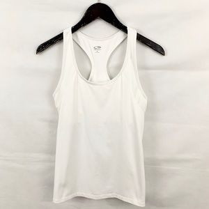 Champion White Athletic Gym Wear Tank Top
